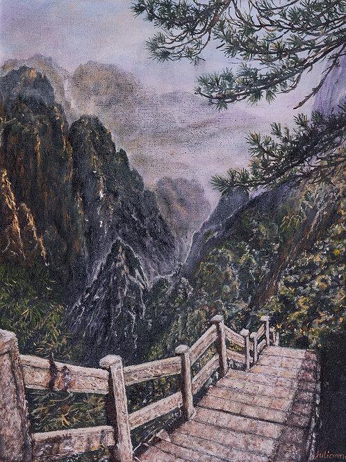 Julianna festmény - Lépcsők
