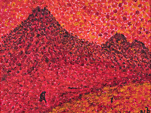 Julianna festmény - Agung vulcano in Bali