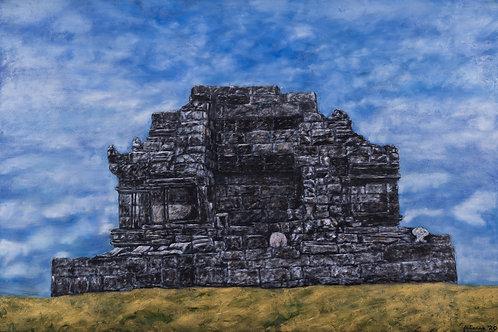 Julianna festmény - Hindu templom Kelet-Jáván
