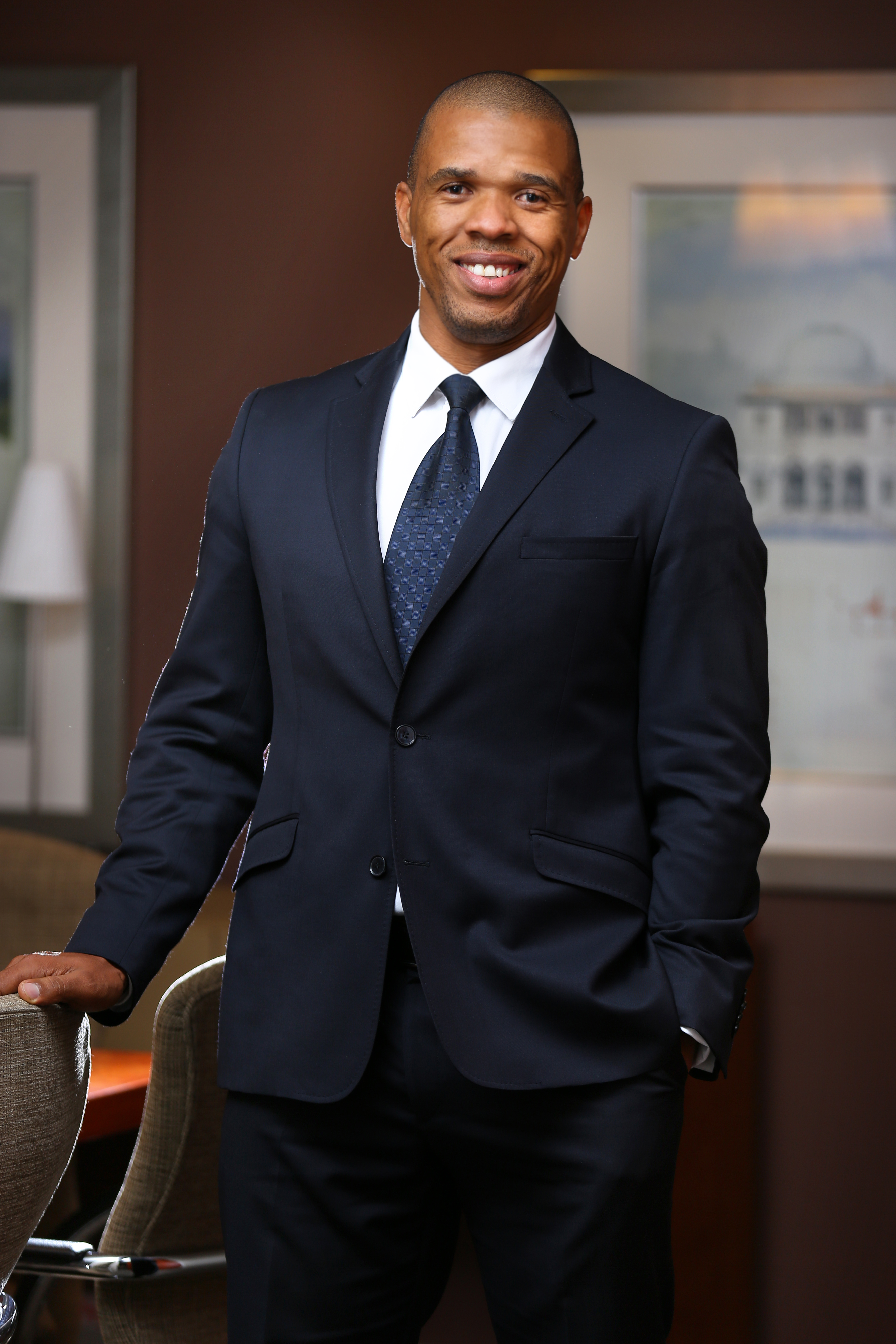 Corporate portraiture, suit, african