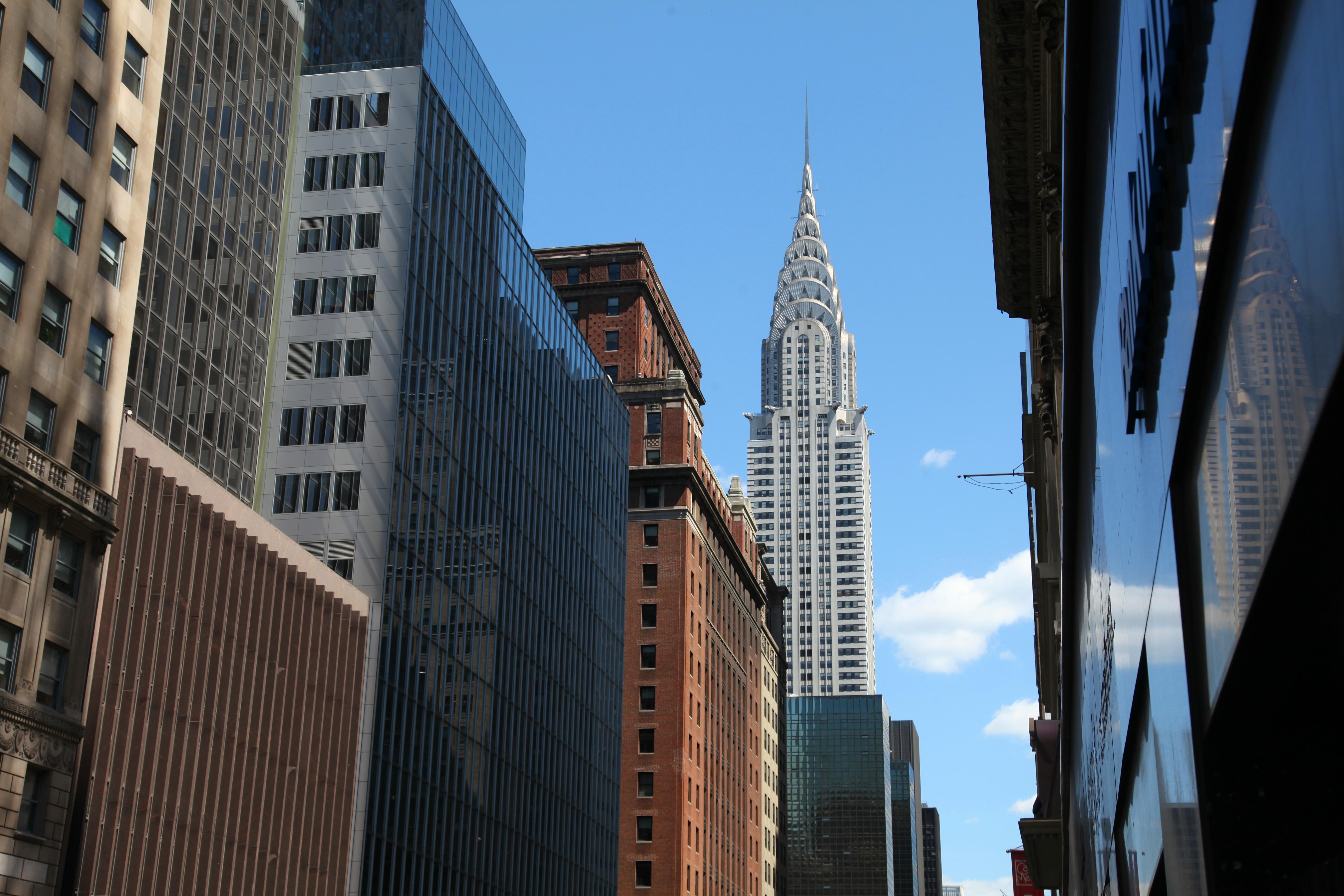 NYC , blue sky