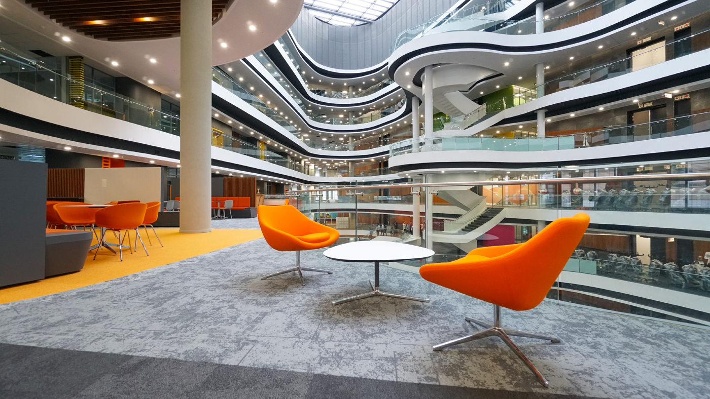 Interior Photography, orange chair