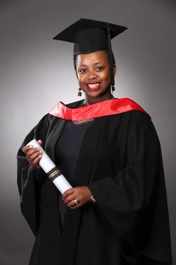 Graduation portraiture, female