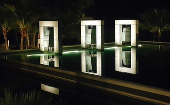 Emerging Bells with light - LED lighting installation project Thailand