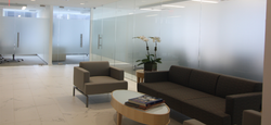 Area Builders| Blackstone group, office with couch chair and table