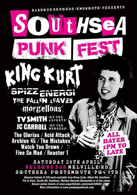 Southsea  Punk Fest line-up finalised!