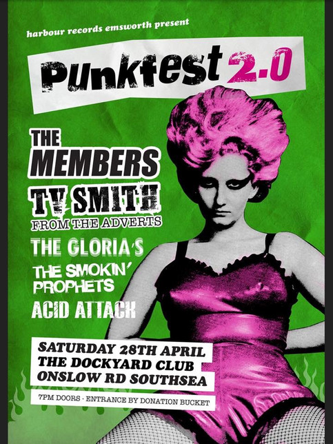 This Saturday we're in Southsea at the Dockyard Club as part of a great bill ...... PunkFest 2.0 in