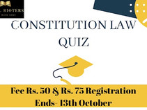Constitution Law Quiz Competition @ Legal Rioters