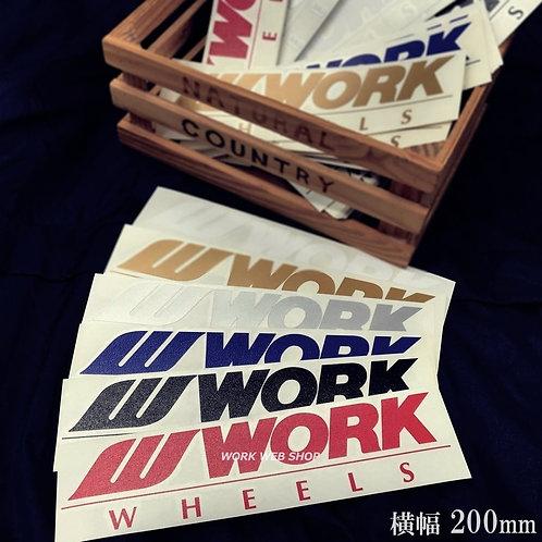 WORKミニステッカー