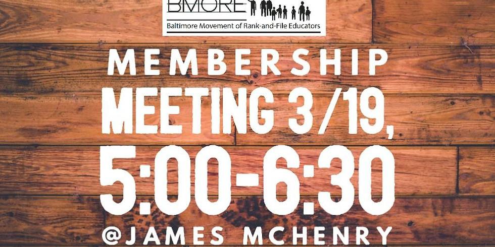 BMORE General Membership Meeting