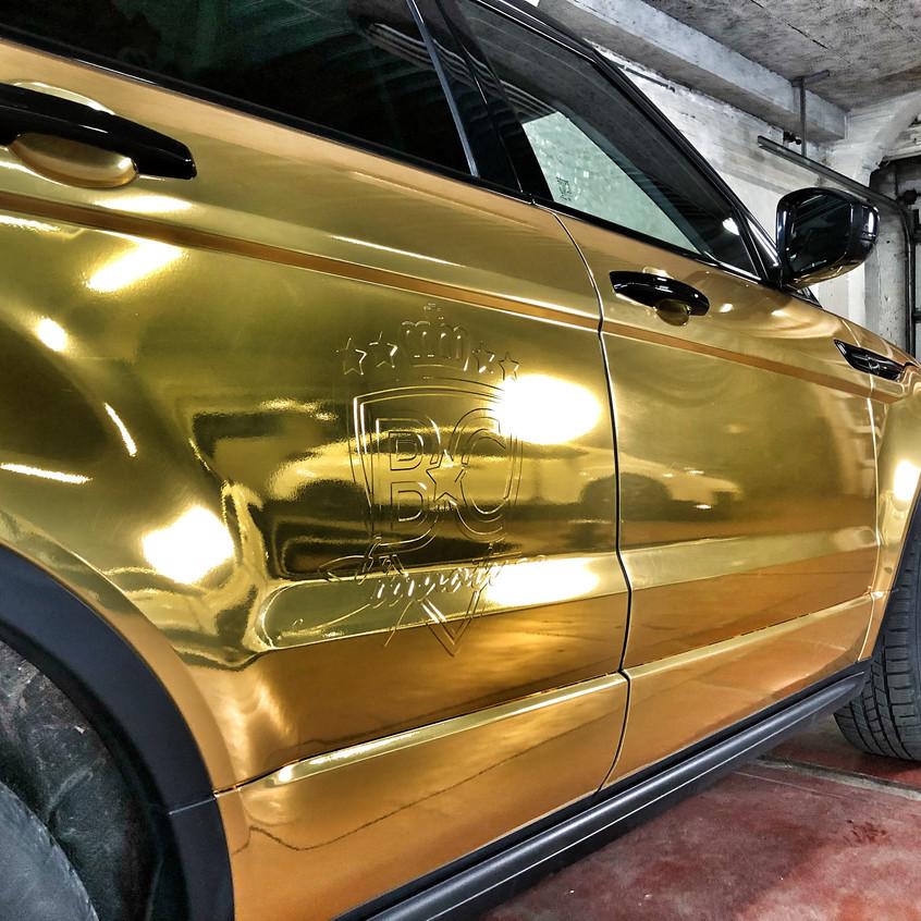 Patser gold chrome wrap