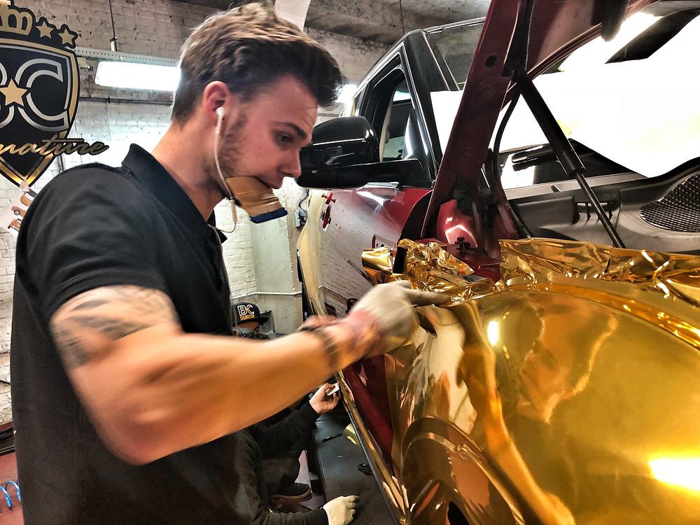 Patser gold chrome wrap!