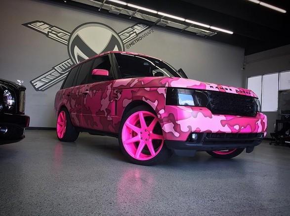 Pink carwrap camo