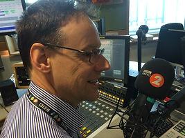 Ruper Brun in the BBC Radio 2 studios