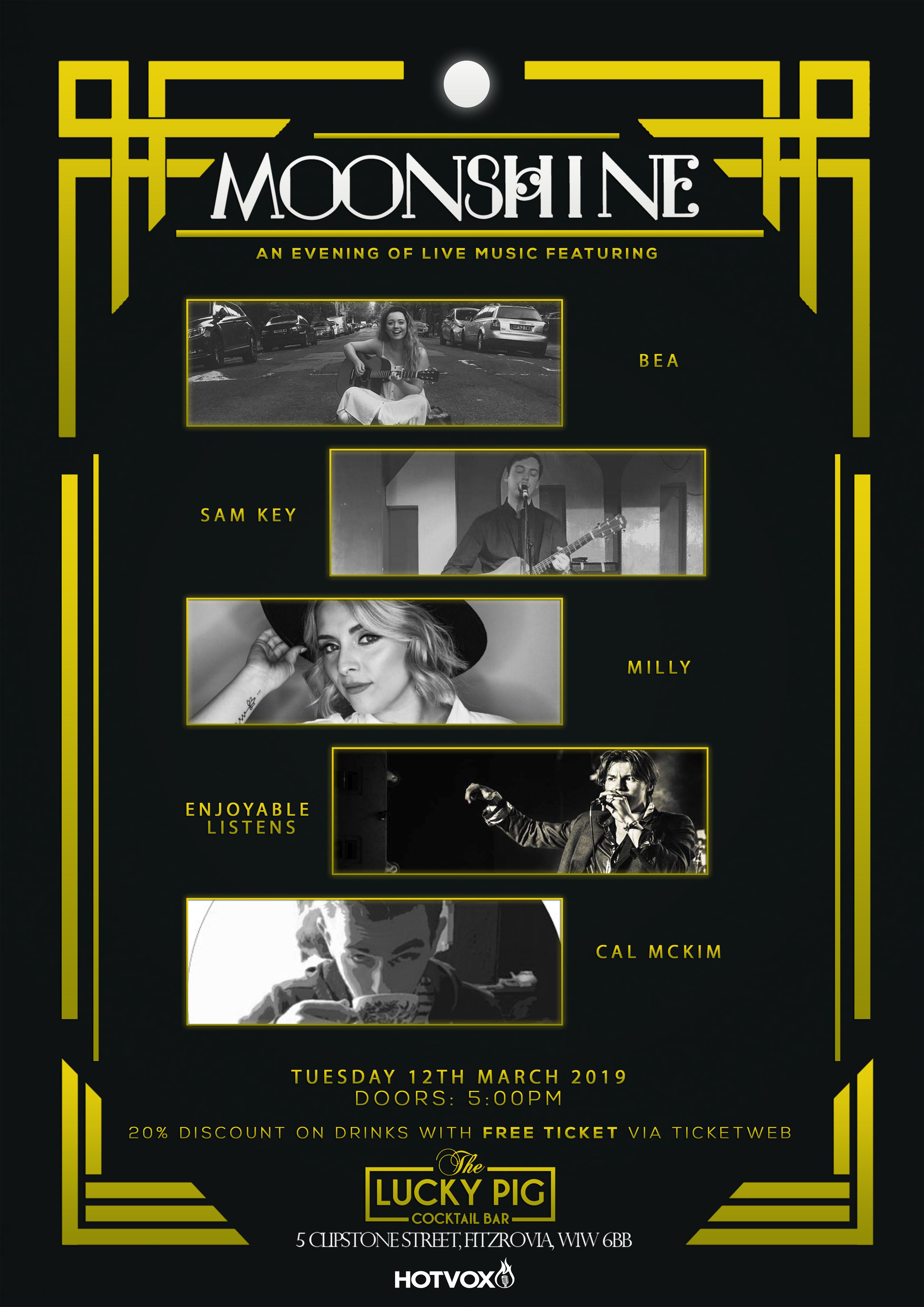 Hot Vox presents MOONSHINE