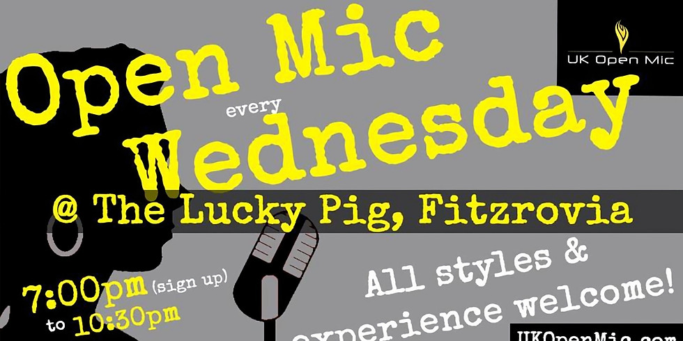UK Open Mic at The Lucky Pig