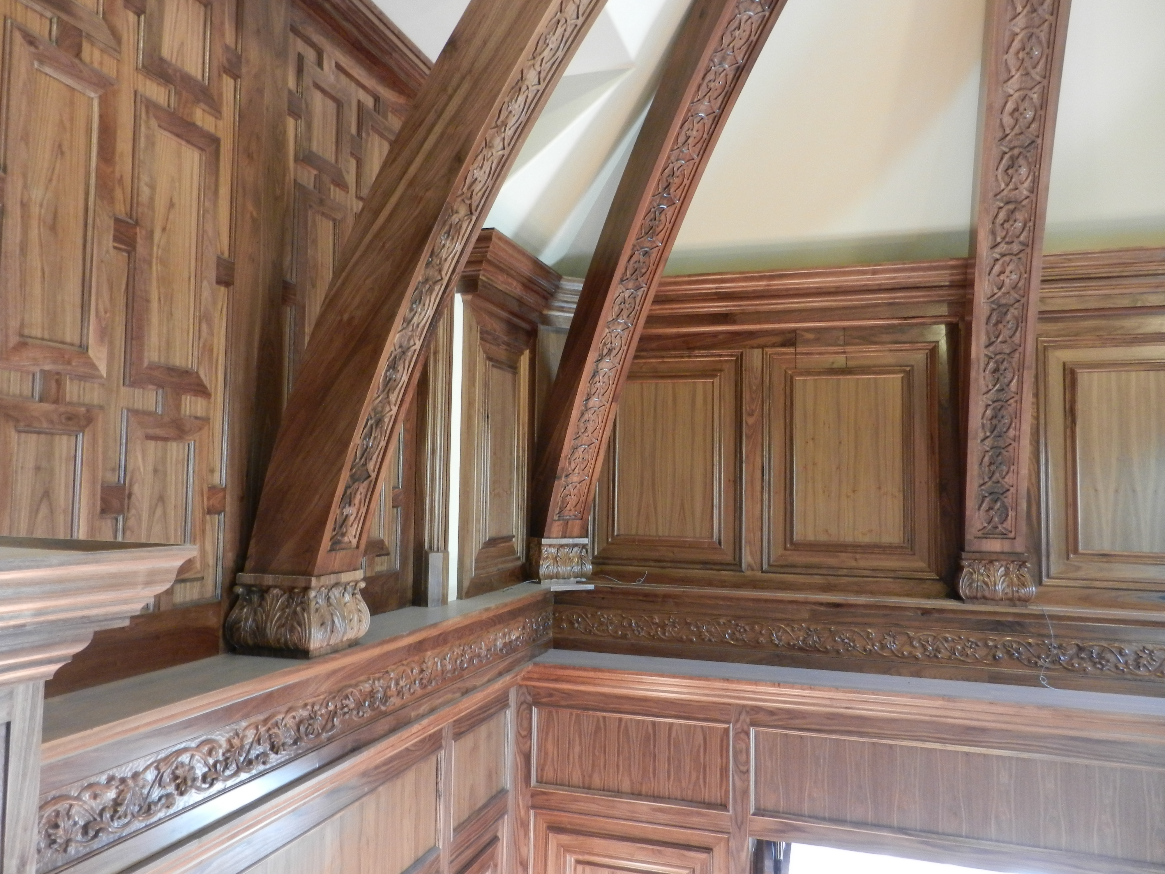 Walnut Carvings and Woodwork