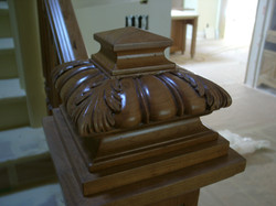 Carved Walnut Newell Cap