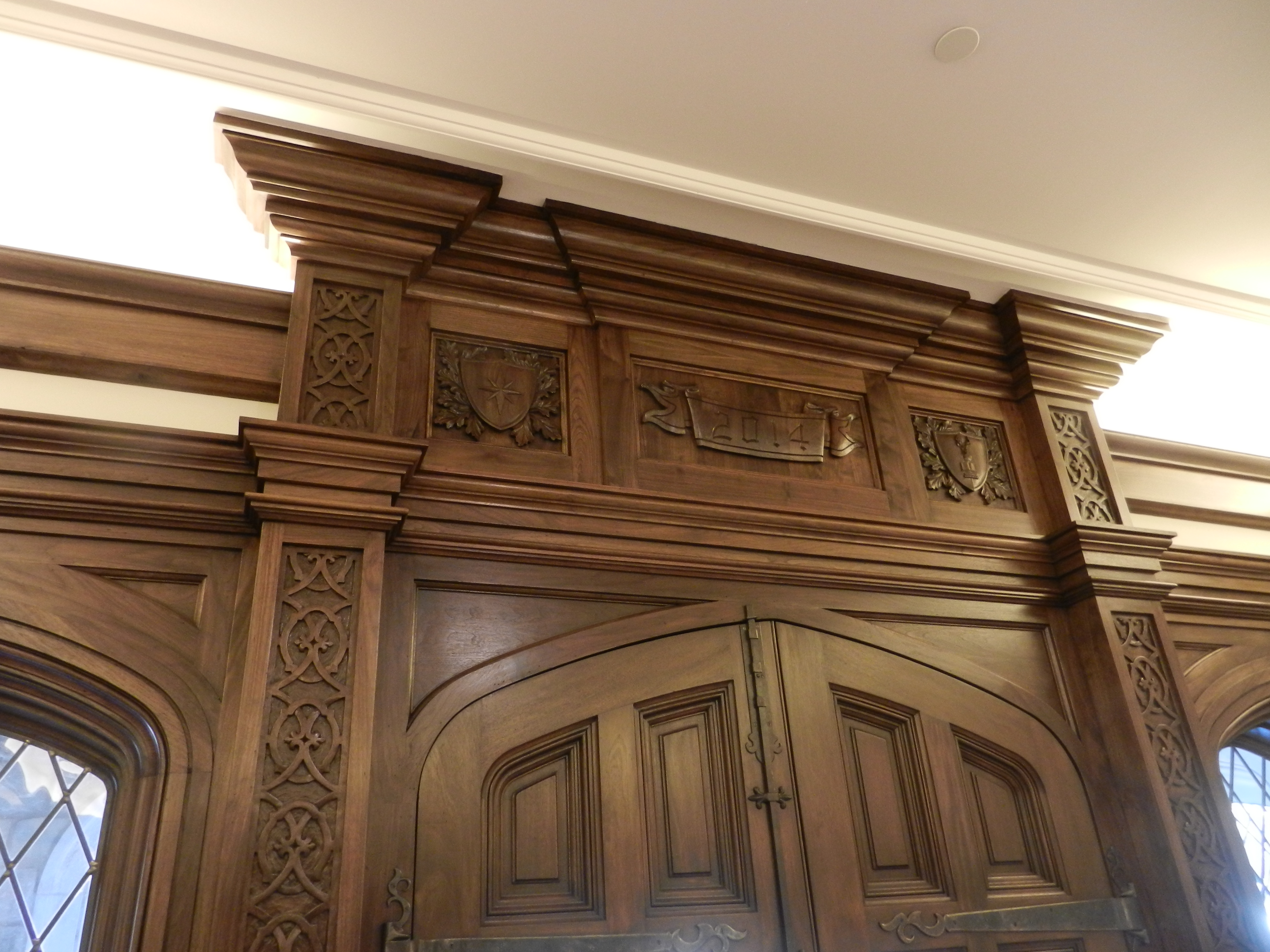 Walnut Carved Entry