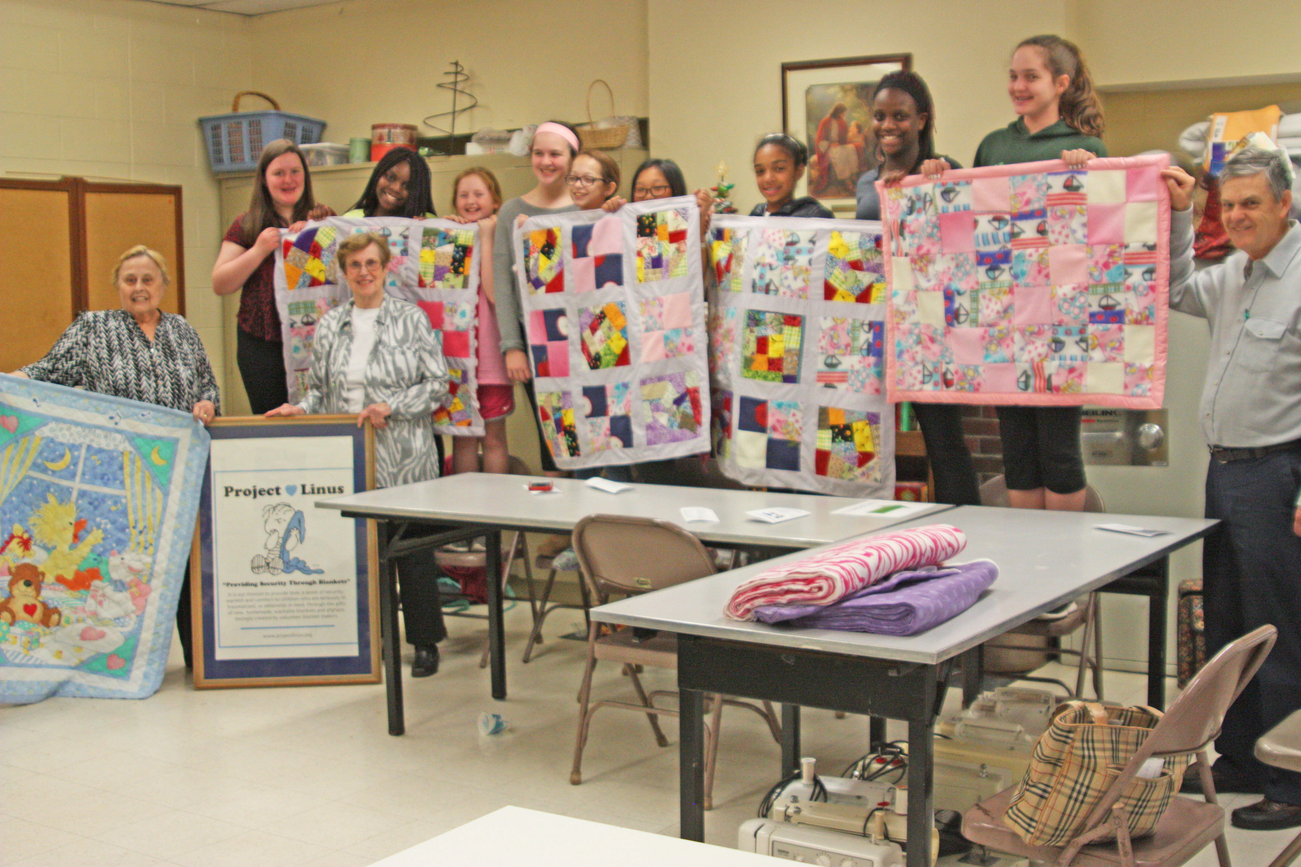 Finished quilts from sewing club