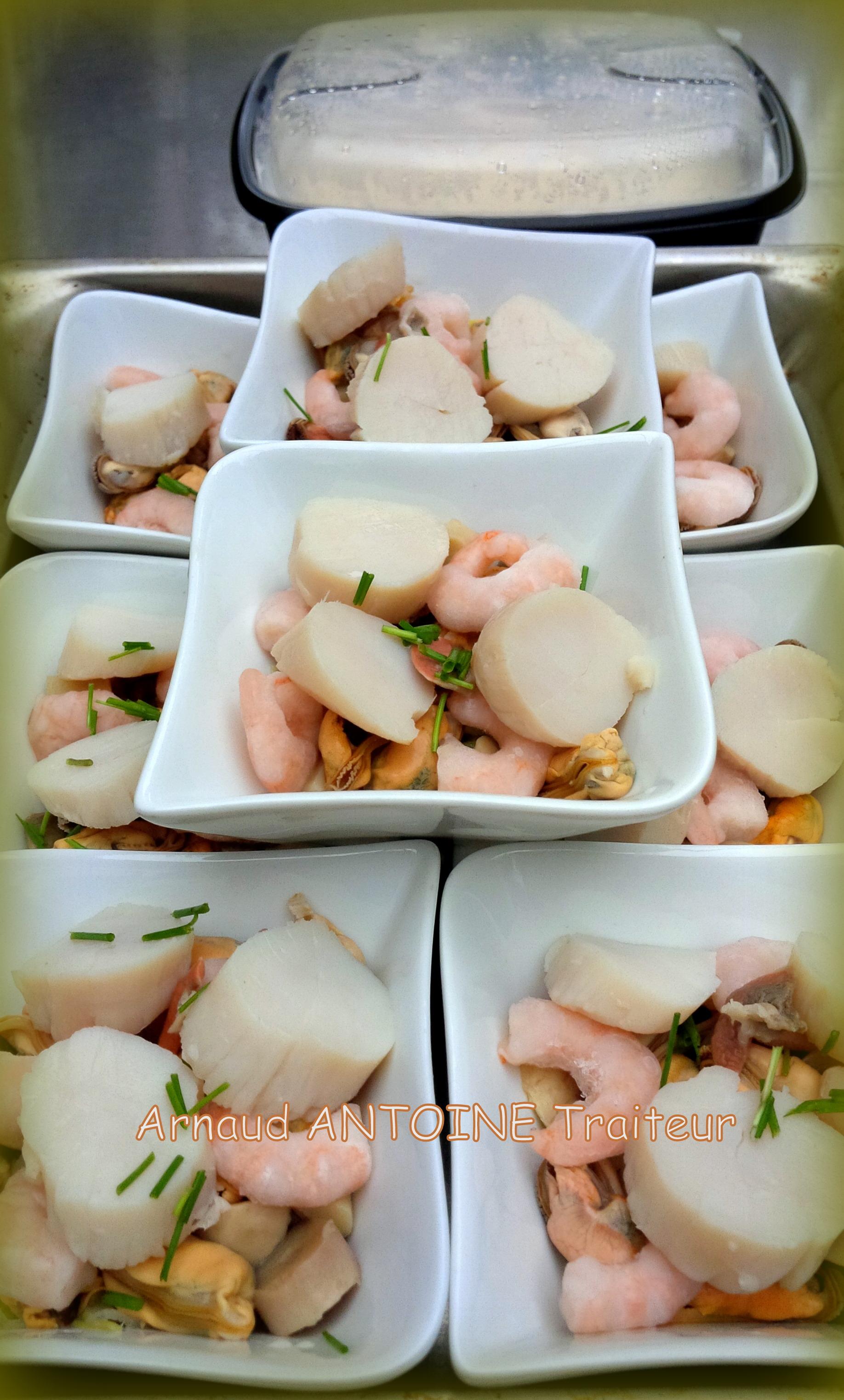 Cassolette fruits mer