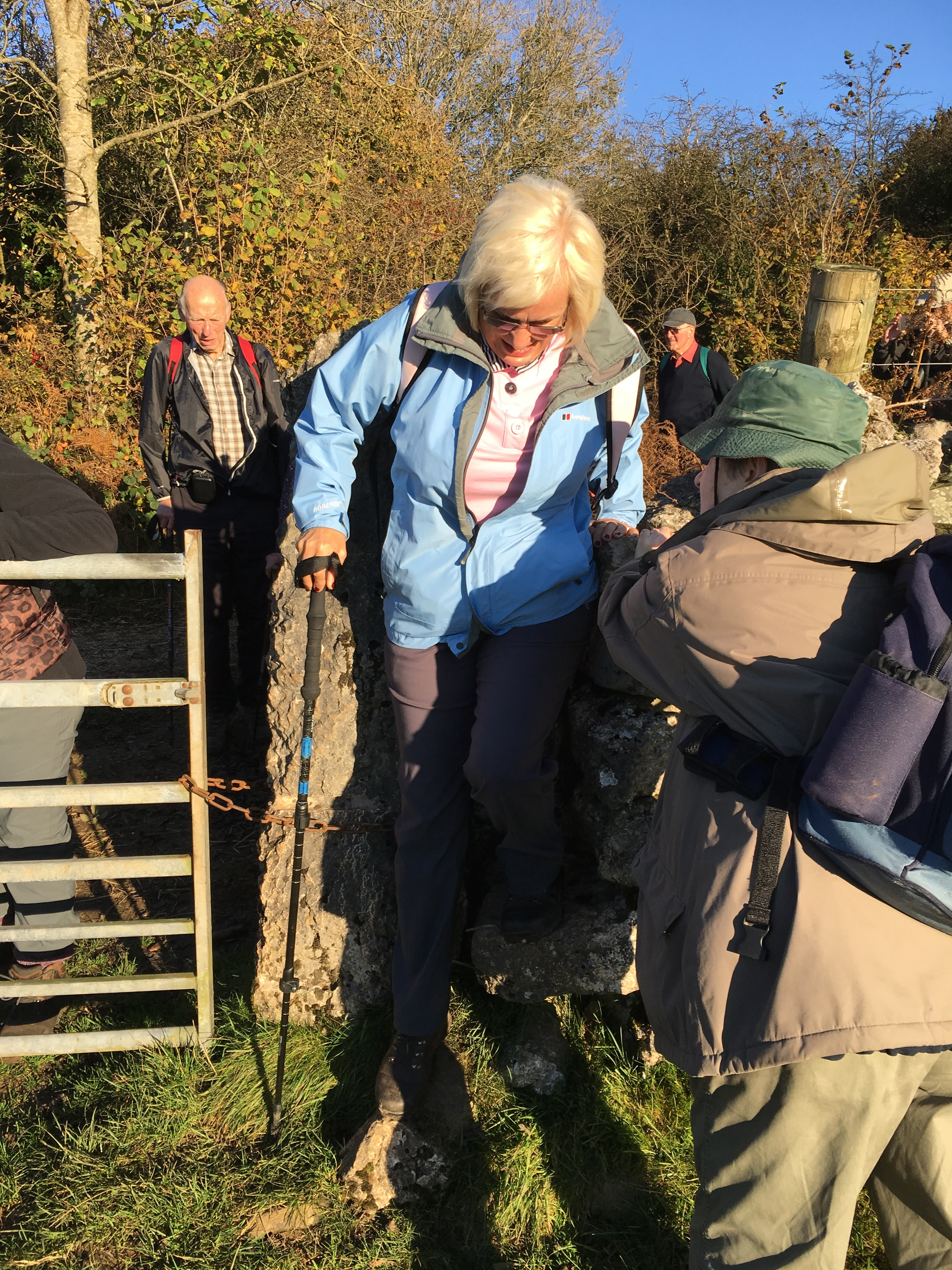at the stile