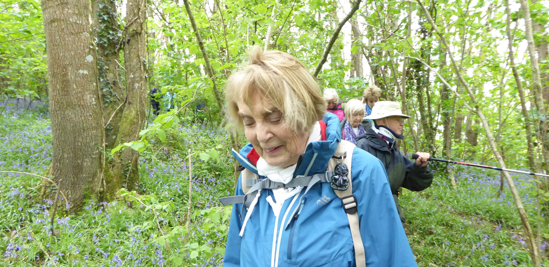 Val in the bluebell woods