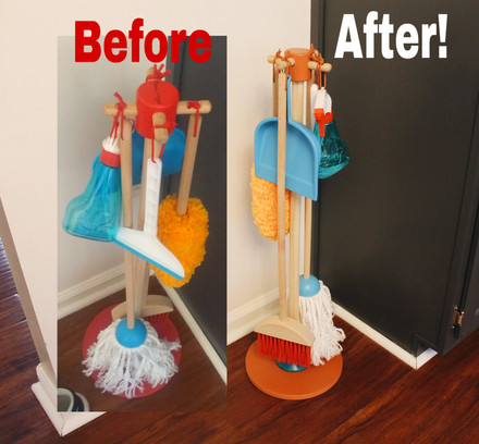Melissa and Doug Cleaning Set Makeover