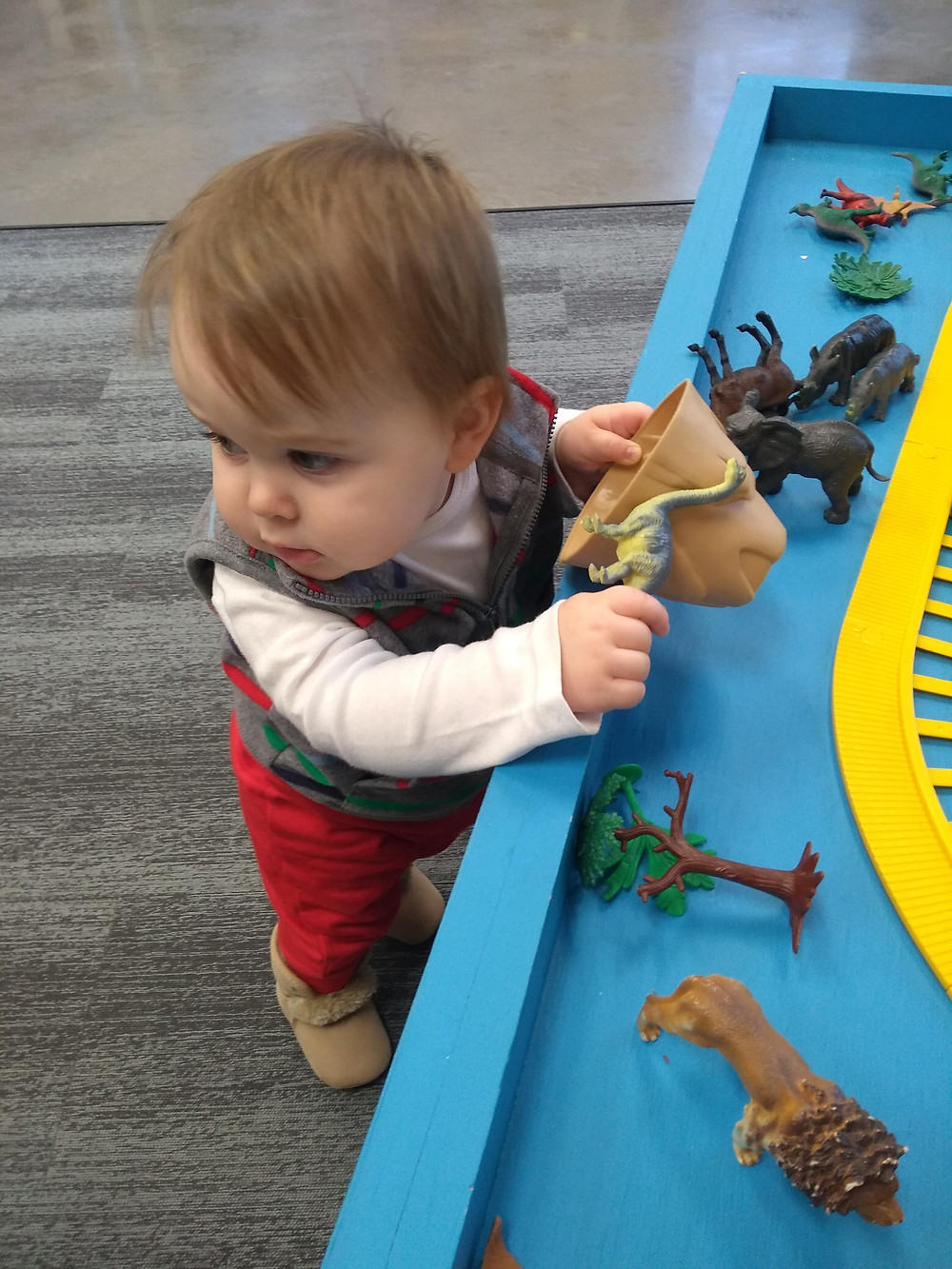 Noah playing at our local library.