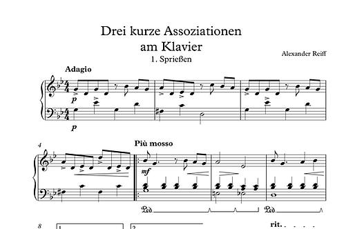 Drei kurze Assoziationen am Klavier