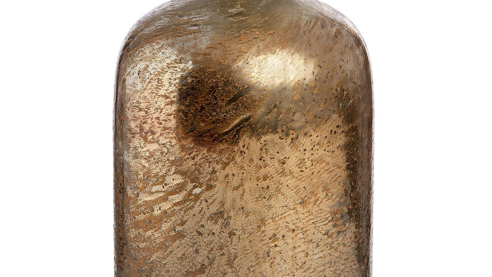 Gold Metallic Lustre Glass Bottle Vase
