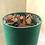 Thumbnail: Lampshade - Mantis Velvet Fabric, Japanese Garden Velvet Liner - 30cm