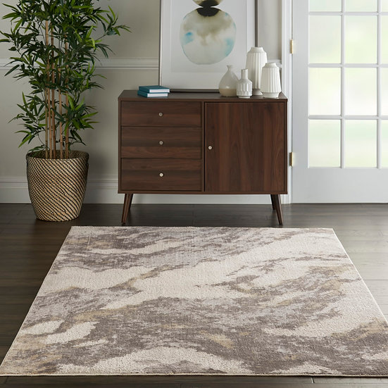 Nourison Silky Textures SLY03 Brown/Ivory