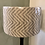 Thumbnail: Lampshade - Fable Weave Inca, White Liner Liner - 40cm Pair Available