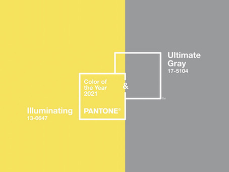 Pantone Colours 2021 - Optimism and Strength!