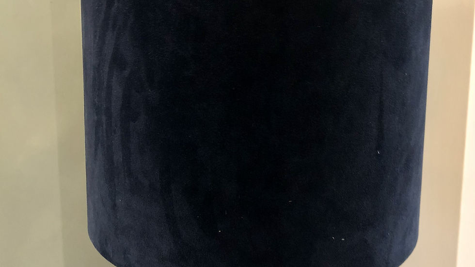 Lampshade - Midnight Velvet Fabric, Heat of the Night Velvet Liner - 30cm