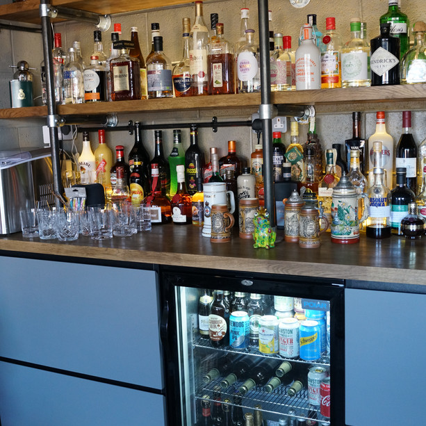 The bar is certainly well stocked