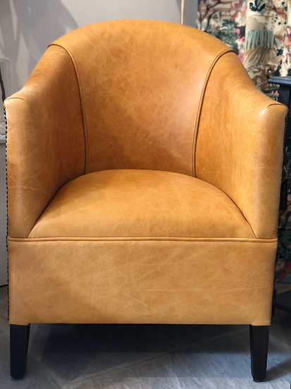 30's style Tub Chair in Leather