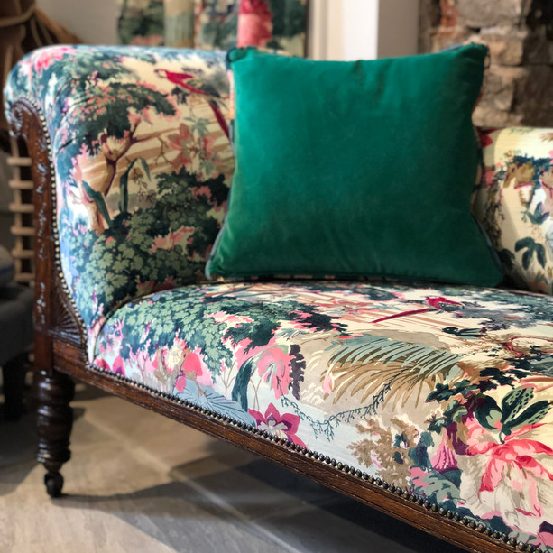 Re-upholstered Chaise