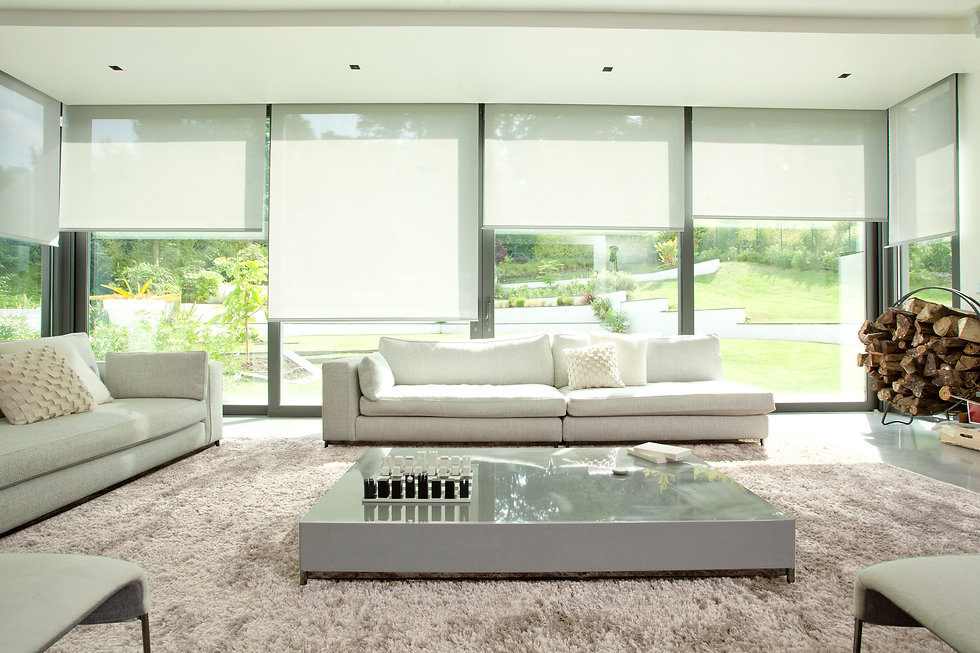 Somfy motorised roller blind