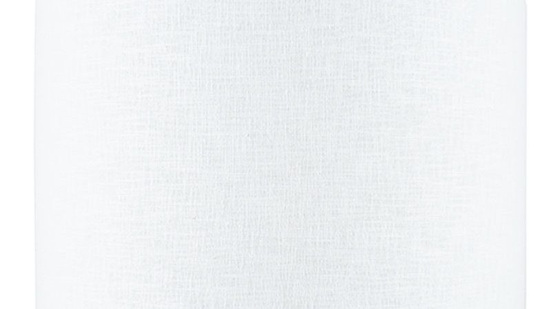 45cm White Self Lined Linen Drum Shade