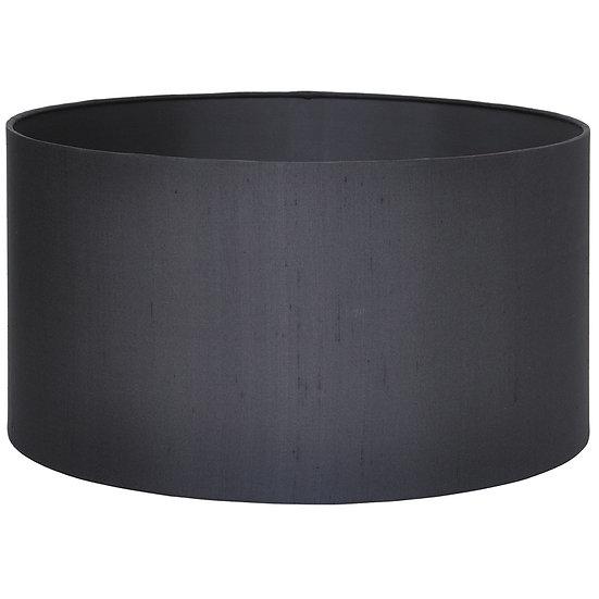 45cm Black Silk Lined Cylinder Shade