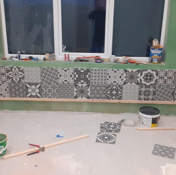 Feature tiling underway