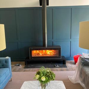 Statement wood burner
