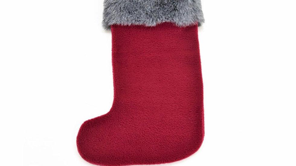 Velvet & faux fur Christmas Stocking