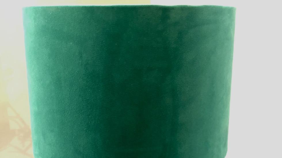 Lampshade - Mantis Velvet Fabric, Japanese Garden Velvet Liner - 30cm