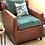 Thumbnail: Bespoke Occasional Chair in Leather & Velvet