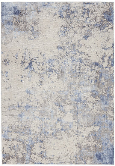 Nourison Silky Textures SLY04 Blue/Ivory/Grey