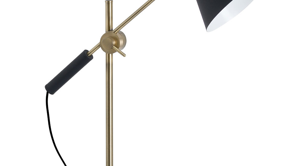 Black and Brass Adjustable Table Lamp