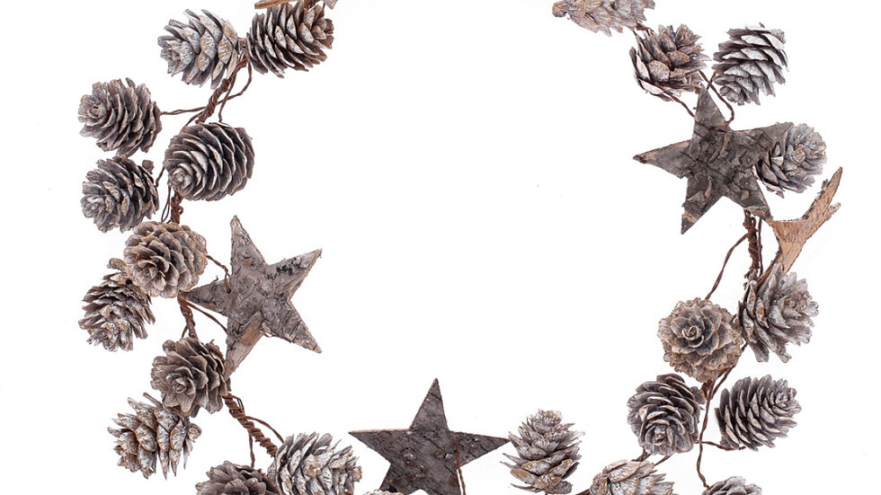 Star and Cone Wire Wreath
